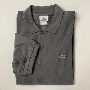 Men's Lacoste Short Sleeve Gray Polo Shirt